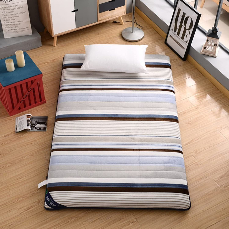 Thick Foldable Mattress,Cotton Sponge Sleeping pad Tatami Soft Mattress Topper -C 90x200cm(35x79inch)
