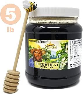 Goshen Honey Amish Extremely Raw BUCKWHEAT Honey 100% Natural Domestic Dark Honey Health Benefits Unfiltered Unprocessed OU Kosher Certified | 5 Lb