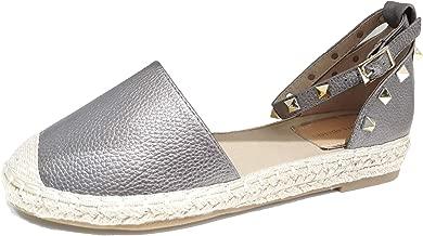 VICTORIA ADAMES Gaby Espadrilles Shoes Pewter