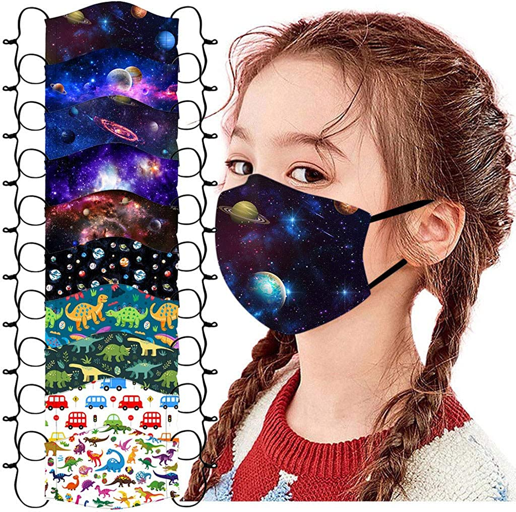 SUGUJU 10pcs Kids Face Mask Reusable Washable High material outlet Breathable Childre
