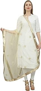 Phagun Women's Neck Wrap Designer Net Dupatta Indian Long Stole Throw