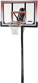Lifetime 71799 Height Adjustable In Ground Basketball System, 50 Inch Shatterproof Backboard