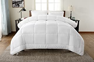 !Best Seller! Hotel Collection Down Alternative Comforter Duvet Insert - Hotel Quality Comforter King/Cal-King White Solid - Hypoallergenic,Plush Siliconized Fiberfill by Spreads Galore