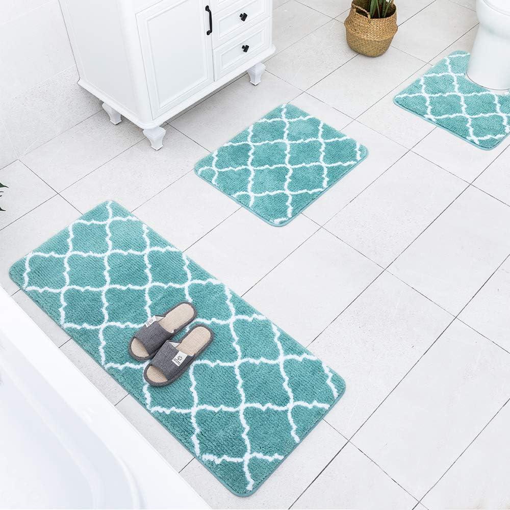 Carvapet 3 Pcs Bathroom Rug Set Direct store Extra Ranking TOP12 Shaggy Soft Microfiber Bat