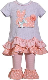 cf2e88091e3d0 Bonnie Jean Holiday Bunny Easter Spring Girls  Appliqued Skirt Dress Set