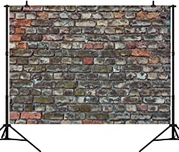 CapiSco 7X5FT Brick Wall Backdrop Vinyl Background for Party Family Baby Child Adult Portrait Gray Brown Textured Pattern Vintage Stone Faux Brick Wall Seamless Photography Studio Background SCO66