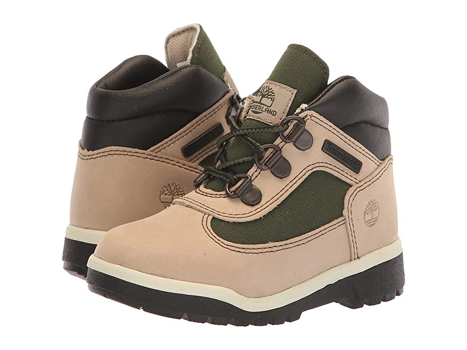 Timberland Kids Fabric/Leather Field Boot (Toddler/Little Kid) (Faded Sand) Kids Shoes