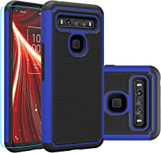 TCL 10 5G UW Verizon Version Case,with HD Screen Protector,Giner Dual Layer Heavy-Duty Military-Grade Armor Defender Prote...