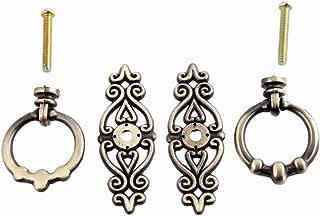 2Pcs Vintage Zinc Alloy Cabinet Kitchen Closet Cupboard Drawer Handle Door Pull Knobs Antique Bronze
