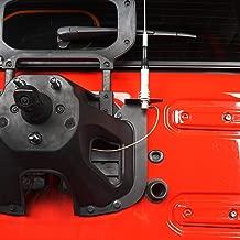 Hooke Road CB Radio Antenna Mount Holder Spare Tire Delete Plate Bracket for 2018-2019 Jeep Wrangler JL Sport Sahara Rubicon Sport S