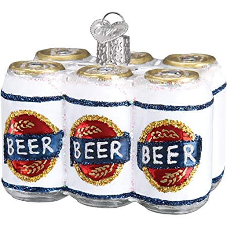 Old World Christmas Six Pack Craft Beer Collection Glass Blown Ornaments For Christmas Tree 6 Pack Home Kitchen