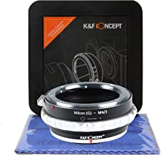 K&F Concept Nikon F Mount (G) Style to Micro Four Thirds Lens Mount Adapter with Hard Plastic Travel Case and Cleaning Cloth, Nikon(G) to Micro 4/3 Adapter, NIK-M4/3 Lens Adapter, NIK-M43 Lens Adapter