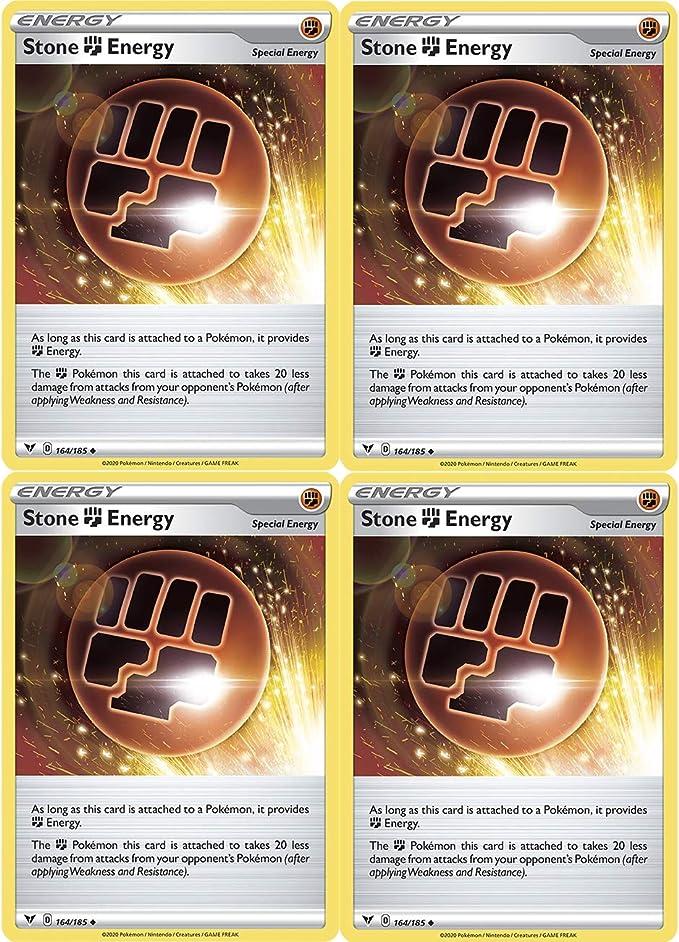 VIVID VOLTAGE Pokemon Trading Card Play Set Deck x4 x4 Stone Energy 164//185