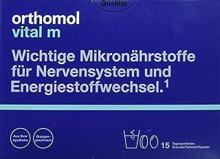 Orthomol vital m 15 granulat, tablett & kapslar, orange – vitaminkomplex för män med trötthet och trötthet