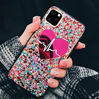 Topwin iPhone 11 Pro Max 6.5'' 2019 Case, Love Heart Luxury Glitter Bling Sparkle Shinny Cute Fashion Shockproof Case Gift for Girls for Apple iPhone 11 Pro Max 6.5'' 2019