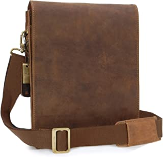 Visconti Messenger- North-South Leather - iPad/Kindle/Shoulder/Cross Body/Notebook/iPad/Business/Office/Work Bag- 18563 - Leo - Oil Tan