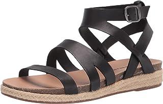 Lucky Brand Footwear Women's GLAINA Flat Sandal, Black, 6