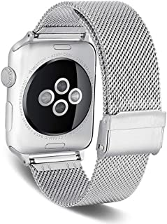 SPINYE Band Compatible for iWatch 38mm 42mm 40mm 44mm, Stainless Steel Metal Mesh Replacement Strap for Apple Watch Series...