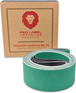 2 X 72 Inch 220 Grit Metal Grinding Ceramic Sanding Belts, Extra Long Life, 6 Pack