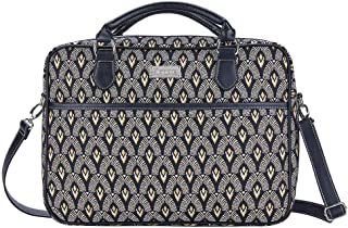 Signare Tapestry Laptop bag 15.6 computer messenger bag briefcase for Women with Luxor Art Deco Style