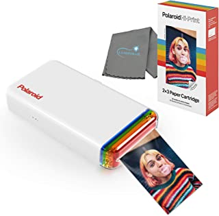 Polaroid Phone Printer Hi Print 2x3 Pocket Photo Printer Bundle Includes Hi Print Cartridge - 20 Photos and Lumintrail Cle...