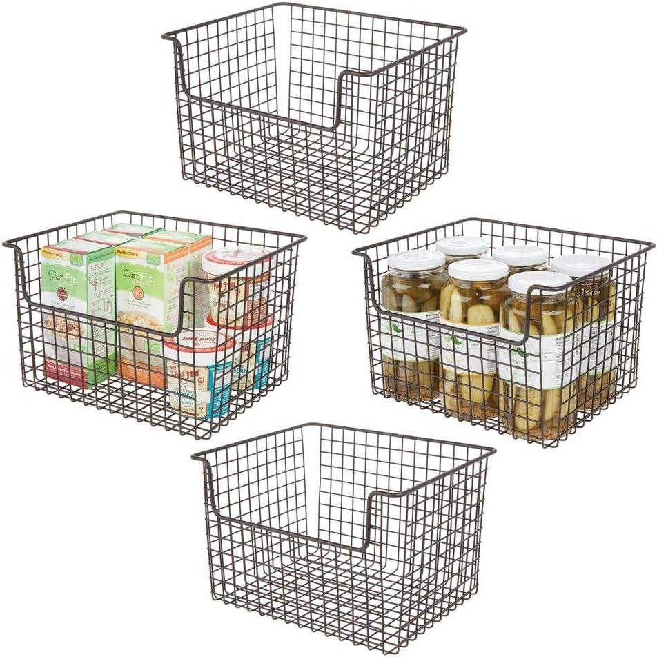 mDesign Cheap sale Metal Kitchen Pantry Food Storage Max 78% OFF - Far Basket Organizer