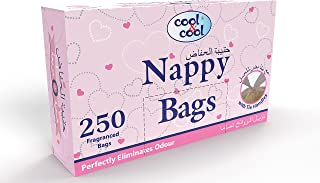 Cool & Cool Fragranced Nappy Bags, 250 Bag