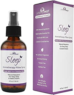 Sleep Spray Pillow Mist With Lavender (4oz) – All Natural Sleep Aid - Relaxing Blend Of Essential Oils Calm Body & Mind – Great Stress Relief For Kids & Adults
