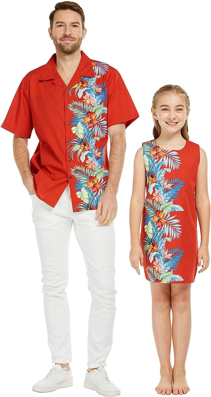 Matching Father Daughter Hawaiian Dance Dress Tank Orchid Shirt Max 49% Import OFF