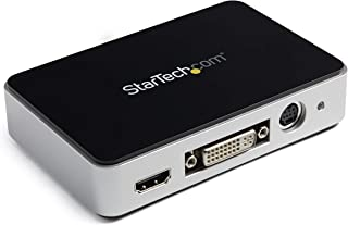 StarTech.com HDMI Video Capture Device - 1080p - 60fps Game Capture Card - USB Video Recorder - with HDMI DVI VGA (USB3HDCAP), Black