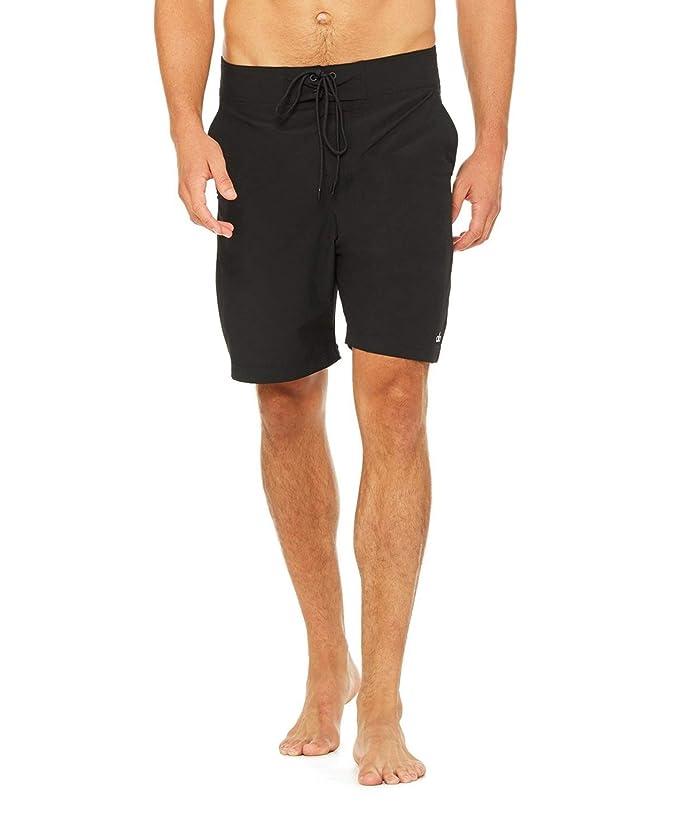 ALO Plow Board Shorts (Black) Men's Swimwear