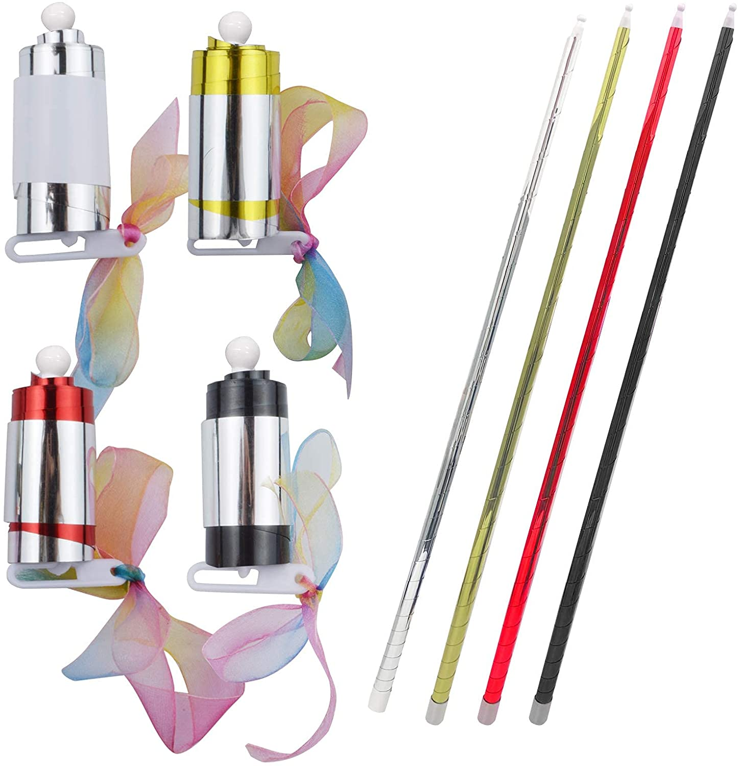 4 Pack Magic Pocket Staff Collapsible 100% quality Philadelphia Mall warranty Appearing Metal 35.4 Cane