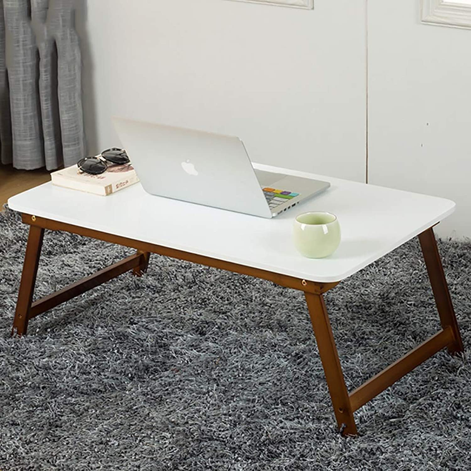 Notebook Computer Desk Lazy Desk Study Table Table Bed Foldable Small Table Simple Dorm Room (Size   60  40  25cm)