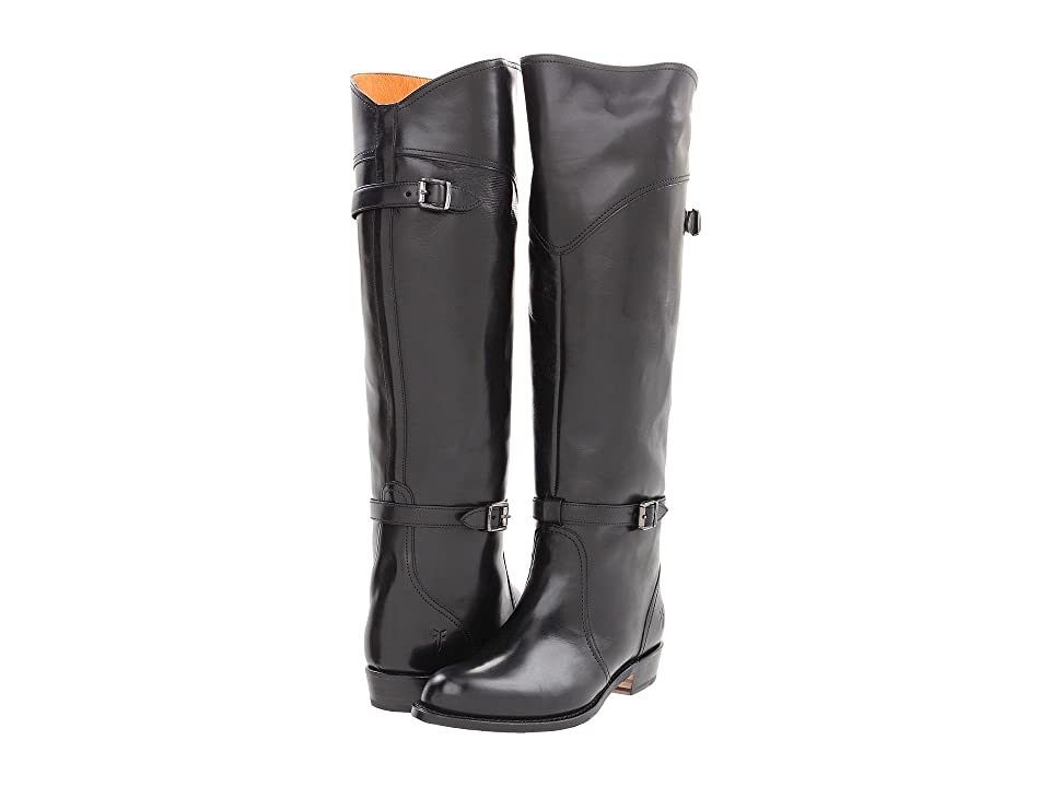 Frye Dorado Riding (Black Smooth Polished Veg) Women