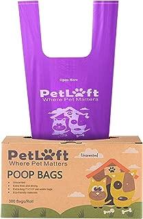 PETLOFT Poop Bags for Dogs, Durable EPI Biodegradable Environment-Friendly Dog Waste Bag Poop Bag with Easy Tie Handles - Purple