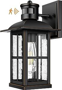 Motion Sensor OutdoorLight - AdvancedDusk to Dawn ExteriorLanternFixtures Wall Sconce,Waterproof Porch Light Fixtures Wall Mountfor Entryway Garage,Anti-Rust100% Aluminum