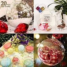 AGM Bolas de Navidad, 20pcs x Bolas Navideña Personalizada Transparente, Bola Rellenable de Navidad, Fiesta, Bodas, Bola Colgante Decoración de Navidad DIY[Diámetro: 8 cm] (no Incluye Cuerda)