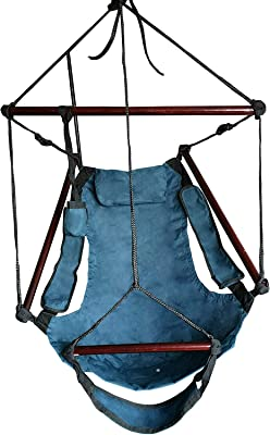 ABO Gear Blue Hammock Chair Outdoor Hanging Chairs W Arm Rests and Footrest