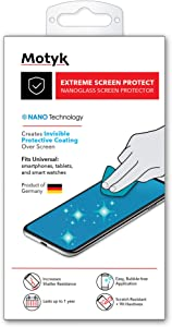 MOTYK Nano Liquid Glass Screen Protector NO REPLACEMENT Screen Protection - Scratch Resistant Nano Coating for All Phones Tablets Smart Watches Apple Samsung iPhone iPad Galaxy and Others Universal