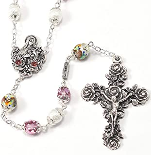 Saint Thérèse of Lisieux Rosary in Antique Silver 11646