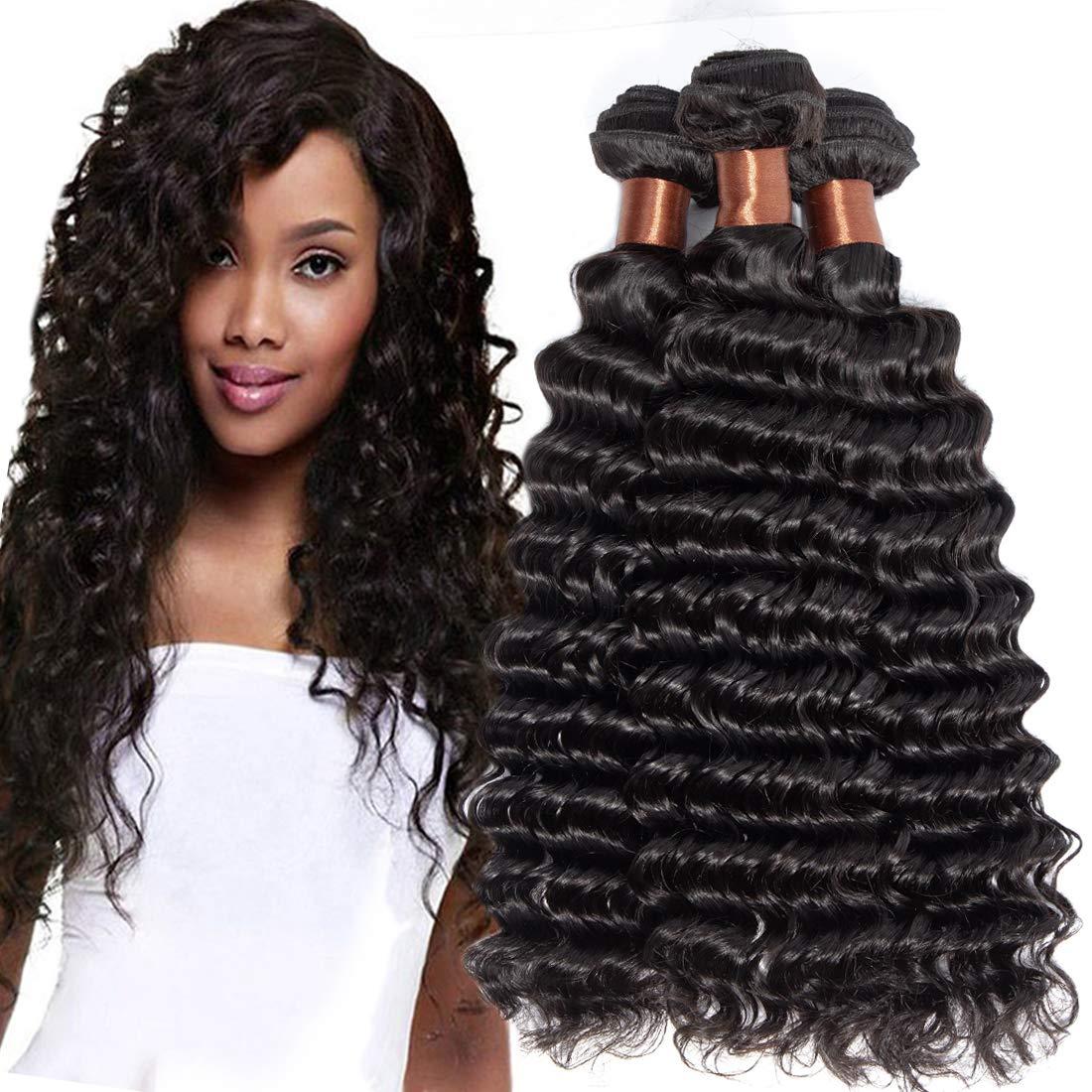 Free shipping / New ANGIE QUEEN Hair Peruvian Virgin Deep Bundles Wave OFFicial mail order 3 18 20