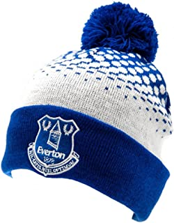 Everton Fc Adult Cuff Bobble Ski Knitted Hat