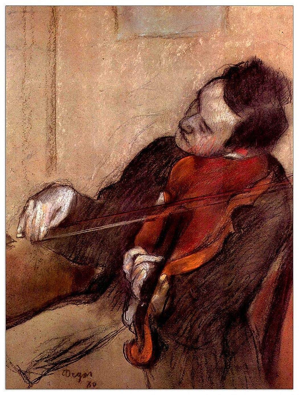 ArtPlaza TW93120 Degas Edgar - The Violinist 1 Decorative Panel 27.5x35.5 Inch Multicolored