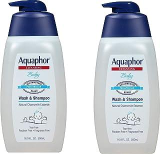 Aquaphor Baby Wash and Shampoo - Mild, Tear-free 2-in-1 Solution for Babyâ€s Sensitive Skin - 16.9 fl. oz. Pump, 2 Pack