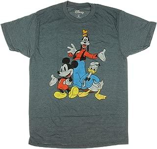 Disney Big Three Trio Mickey Mouse Donald Duck Goofy T-Shirt