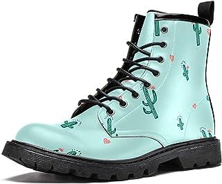 Bottes d'hiver chaudes à lacets avec motif cactus pour homme, adolescent, garçon