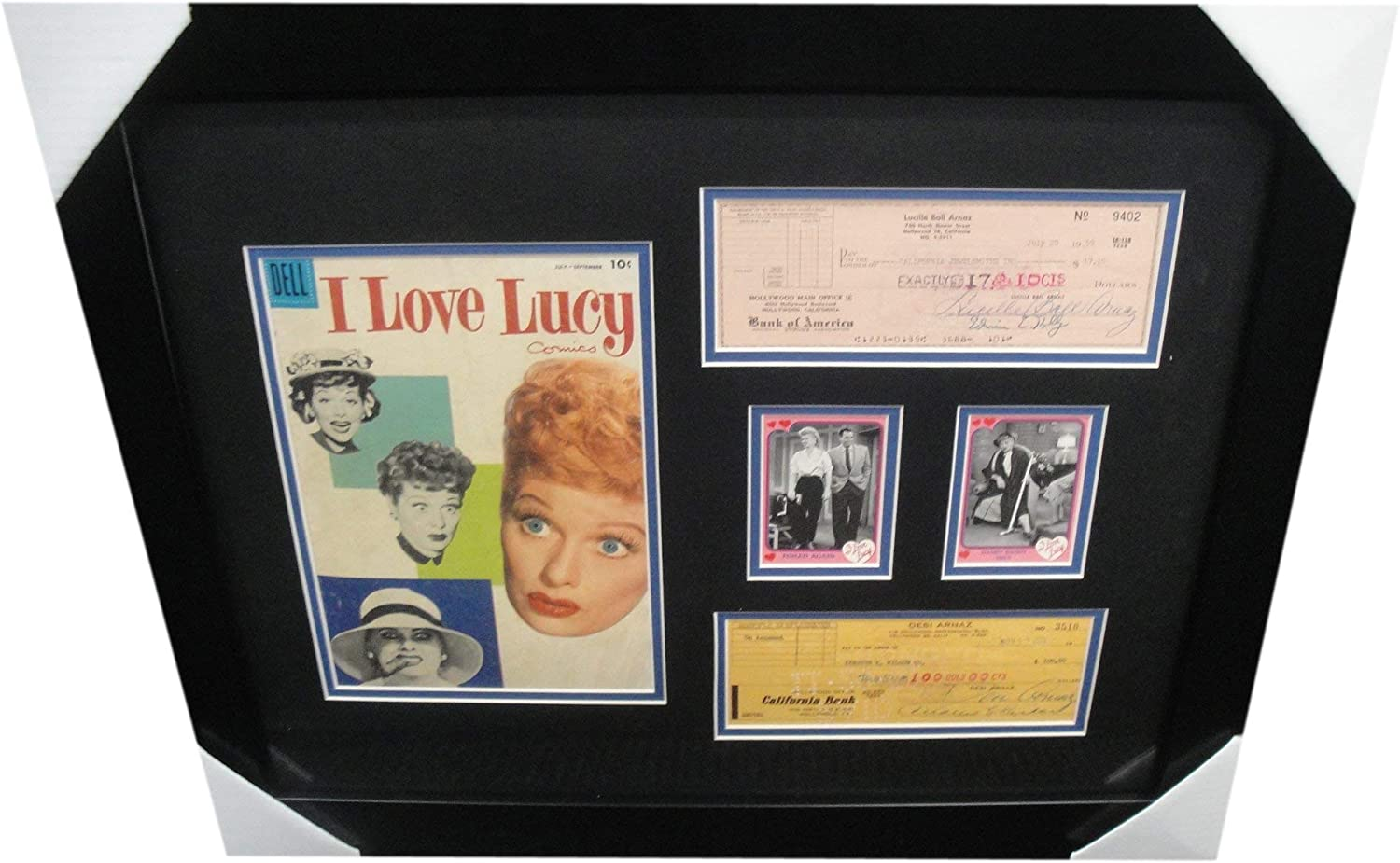 Lucille Ball Desi Arnaz Direct sale of manufacturer Signed w Comic Personal Framed Checks Max 53% OFF