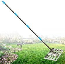 Gazon egaliseerhark 73 Inch egaliseerhark Verdikte verstelbare lange steel Zware gazon egaliseerhark met Roestvrij staalpo...