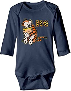 Calvin and Hobbes Hug Personalize Baby, Toddler Long Sleeve Bodysuit Cotton
