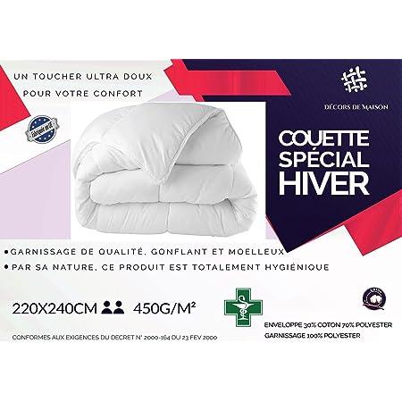 "Couette blanche 450GR/M² ""FABRICATION FRANCAISE"" (2 places) 220 x 240"